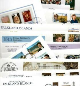 Falkland Isls. FDCs x 14 Royalty First Day Covers