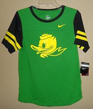 NWT WOMENS M NIKE OREGON DUCKS PUDDLES MASCOT T SHIRT W/ JERSEY SLEEVES $42