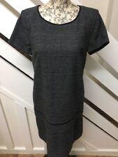 BNWT🌹NEXT🌹Size 10 Tall Grey Tweed Style Formal Peplum Shift Dress Size 10