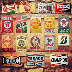 Motor Oil Plaque Vintage Metal Tin Signs Home Bar Pub Garage Gas Station