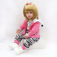 Handmade 24'' Reborn Toddler Baby Doll Vinyl Silicone Girl Realistic Gift 2019 @