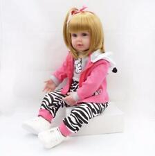 Handmade 24'' Reborn Toddler Baby Doll Vinyl Silicone Girl Realistic Gift 2020 @