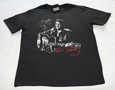 Elvis Presley Guitar Mens Black Printed Short Sleeve T Shirt Size 3XL New