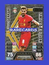 Match Attax 2013 2014 Topps LE3 STEVEN GERRARD Limited Edition GOLD 13 14