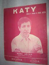 PARTITION MUSICALE BELGE MARC ARYAN KATY