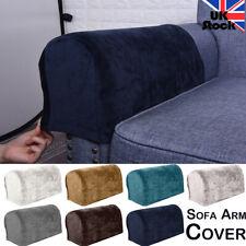 Velvet Sofa Arm Cover Fabric Anti-Slip Furniture Protector Armchair Slipcover UK