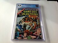 GIANT SIZE MAN THING 2 CGC 9.0 WHITE PAGES FANTASTIC FOUR JANSON MARVEL COMICS