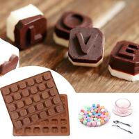 Neu Alphabet Schokolade Silikonform Ausstecher Mould Fondant Buchstaben