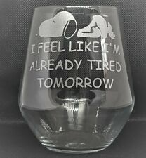 Hand Etched Stemless Wine Glass/Tumbler With Snoopy Image