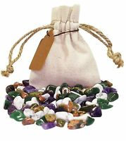 Gratitiude Power Pouch Healing Crystals Stones Set Tumbled Natural Gemstones