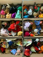 💎TY BEANIE BABIES LOT OF 10 NEW WITH TAGS POSSIBLE RARES RETIRED & ERRORS💎
