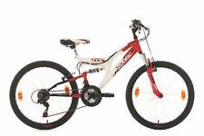"VTT Enfant 18 V Tout Suspendu 24"" Zodiac Rouge Vélo Neuf TC 38cm KS Cycling 603K"