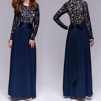 Kaftan Abaya Islamic Muslim Party Evening Women Long Sleeve Vintage Maxi Dress