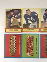 1963 Topps Football Lot Of 6 (exmt) Hofer's