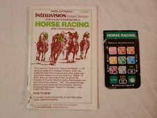 Lot Horse Racing Intellivision **Manual & 1 Overlay Only** Sports Mattel 1980
