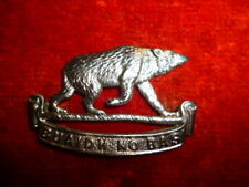 Canadian Militia - 50th Regiment (Gordon Highlanders, B.C.) Right Collar Badge