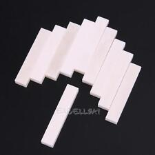 10Pcs Blank Buffalo Bone Nut for LP Folk Classical Acoustic Guitar Bass 52*9*6mm