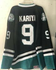 New Paul Kariya #9 Anaheim Mighty Ducks Throwback Jersey CCM Size 2XL (54)