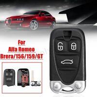 3 bottoni Nero Cover guscio chiave telecomando per Alfa Romeo Brera/156/159/GT