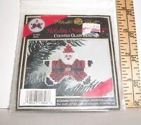 COUNTED GLASS BEAD KIT MILL HILL STAR SANTA CHRISTMAS ORNAMENT 1993 PIN CRAFT