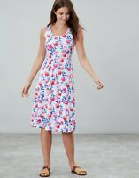 Joules Gabriella Sleeveless Jersey Dress (White Multi Floral)