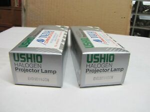 Lot of 2X  New Projection Lamp EVD 36V 400W Bulb Ushio Halogen Projector