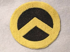 Generation Identity Embroidered Iron-On Patch Yellow Black ~4 Inch Diameter