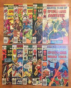 Marvel Team-Up 10 Comic Lot, 52-61, Spider-Man, Hulk, Warlock, Black Widow