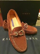 "Ralph Lauren Collection ""Dasita"" Loafers Shoes Brown Sz 5.5 B Made In Italy New"