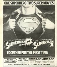26/12/81PN70 MOVIE ADVERT 6X5 SUPERMAN & SUPERMAN II