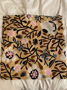 Pair Of Marimekko Pillow Cushion Case Cover Yellow Cotton  18 x 18