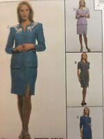 1997 McCalls 8669 Vintage Sewing Pattern Womens Dress Jacket Skirt Size 12 14 16