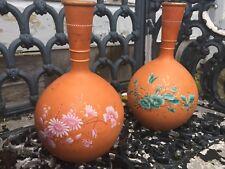 Antique Wilhelm Schiller And Son Bohemian Vase Pair