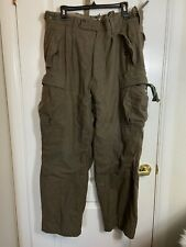 Vintage Military Wool Army Cargo Pants Green Olive 38 x 31