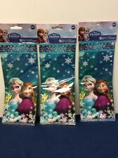 Wilton Disney Frozen Treat Goody Bags Anna Elsa Olaf 48 Bags w/ Ties (2)
