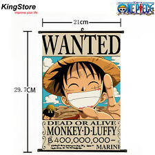 Anime One Piece Luffy Wanted Pirate Home Decor Poster Wall Scroll 21*30 cm 03