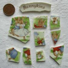 Broken Vintage Pottery Tiles for Mosaic/Art: Cute Bunnykins