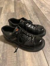 Harley Davidson Mens Black Leather Steel Toe Work Shoes Size 10.5