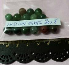 Quality Indian Agate Gem Stone Beads - 8mm Round Beads (20pce)