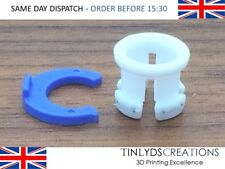 White Bowden Tube Clamp Clip Tube Coupling Collet Blue For 6mm 3D Printer