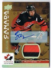 2017-18 Upper Deck Team Canada Juniors Autograph Patch #60 Stelio Mattheos /199
