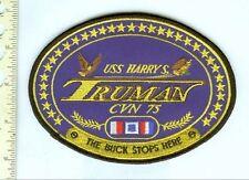 Military Patch CVN-75 Harry S. Truman Lg. Jacket Patch