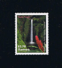 Samoa Sopoaga Falls and Teuila Flower Postage Stamp Flora Issue