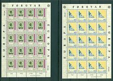 Denmark - Faroer 1979 Mi.43/44 - Europa: n.2 minisheets History of the Postal S