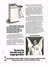 PUBLICITE  1974    LADEN   lave linge machine à laver