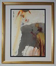 "Original 1967 Salvador Dali Biblia Sacra ""De Petra exivit"" Signed - COA"