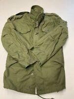 Mens MILITARY Green Vintage Zip OG-107 Cold Weather Field Jacket Sz M