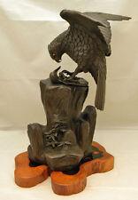 Japanese Meiji Bronze Okimono - Eagle w/small bird