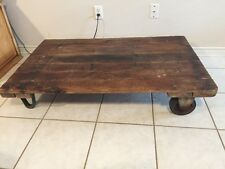 "Antique Railroad Trolley Steampunk Industrial Factory Cart Coffee Table 48"" X 30"