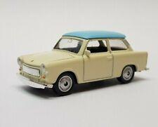 Welly Trabant 601 Limousine - beige / blau - 1:60 Trabbi DDR Modell Auto
